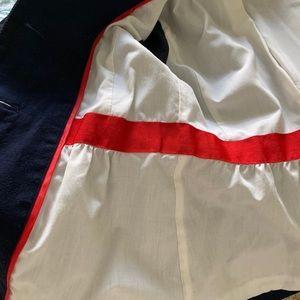 J. Crew Jackets & Coats - J Crew navy blazer sz 2 w/gathers, covered buttons